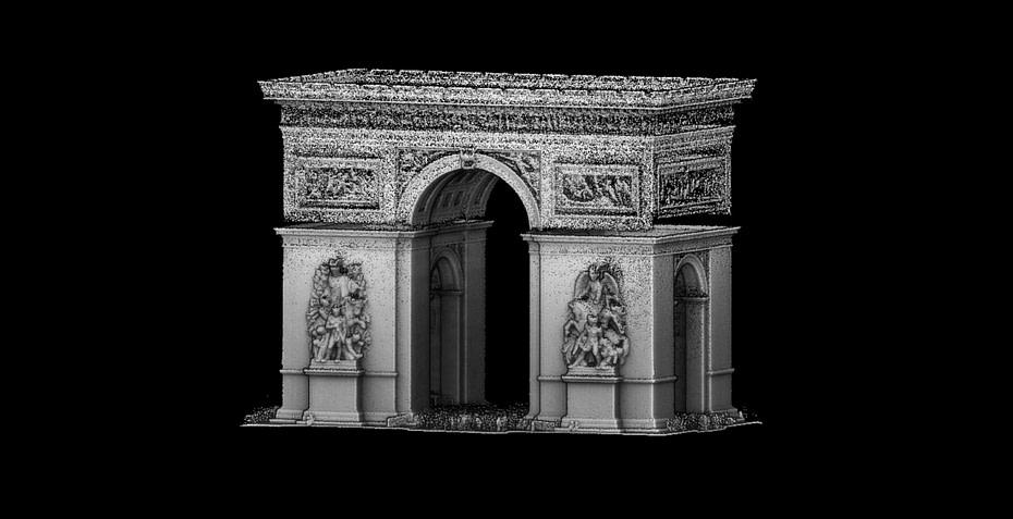 Arch di triumph laser scan
